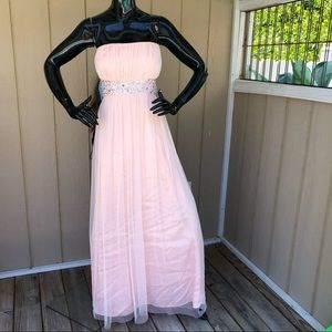 Morgan & Co Strapless Embellished Prom Dress Gown